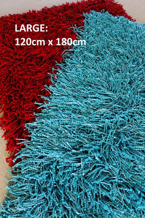 Clear Floor Mats >> Large Red Floor Rug, FUGA Shaggy Ribbon Rug: Funky DESIGNER Home Floor Decor   Luxury Home Living