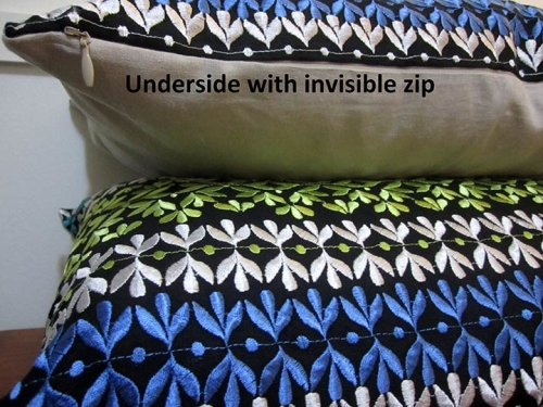 Morgan Amp Finch Geometric Cushion Cover Embroidered Linen