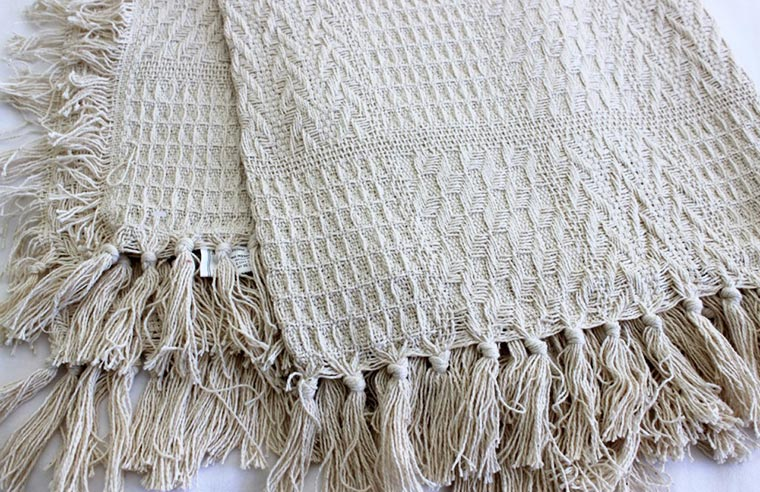 Cotton Waffle Throw Rug Blanket Soft Weave Bed Sofa Cover